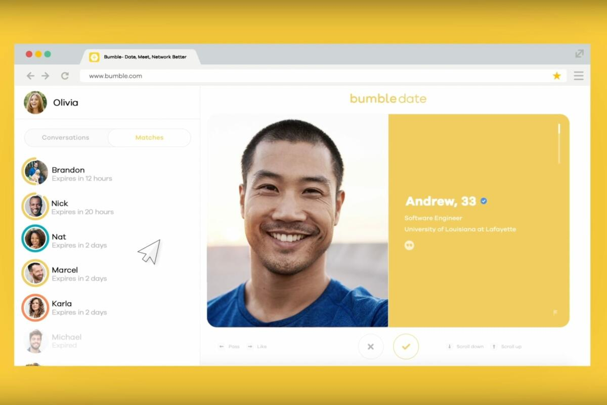 Bumble - Bumble Web: The Bumble Experience, Without Your Phone!
